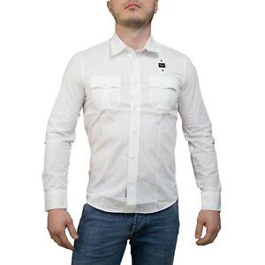 Blauer-Camicia-Uomo-Col-e-tg-varie-NUOVA-COLLEZIONE-S-S-19