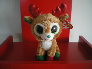 55cf5b7248a Image is loading Ty-Beanie-Boos-RED-ALPINE-reindeer-6-inch-