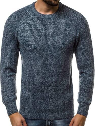 OZONEE hr//1807 Uomo Pullover Manica Lunga Top Felpa Aderente Basic