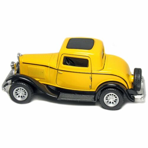 """diecast toy 5/"""" 1932 Ford 3-Window Coupe 1:34 Green//Maroon//Red//Yellow Set of 4"""
