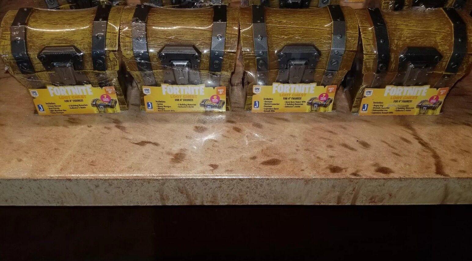 Lote de 4 fortnite botín pecho cofres para 4 Figuras Juguetes 4 diferentes en el pecho