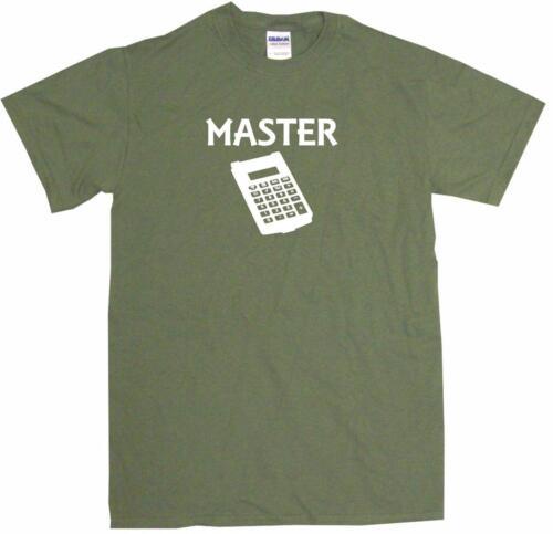 6XL Calculator Master Logo Mens Tee Shirt Pick Size /& Color Small