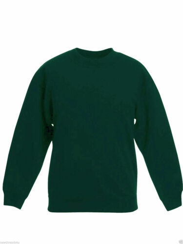 2 Pack X Boys Girls Green Crew Neck SCHOOL JUMPERS size 13-14 years