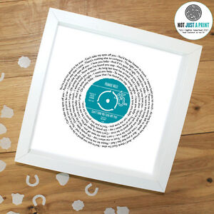 Frankie-Valli-Can-039-t-Take-My-Eyes-Off-You-Song-Print-VINYL-RECORD-wedding-gift