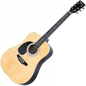FALCON-LFG100N-LEFT-HANDED-ACOUSTIC-GUITAR-NATURAL-DREADNOUGHT-BRAND-NEW
