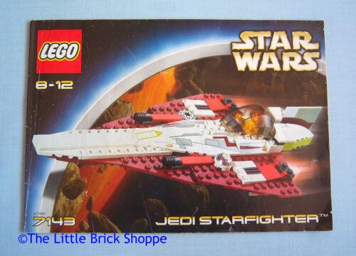 Lego Star Wars 7143 Jedi Starfighter Instruction Book Only No