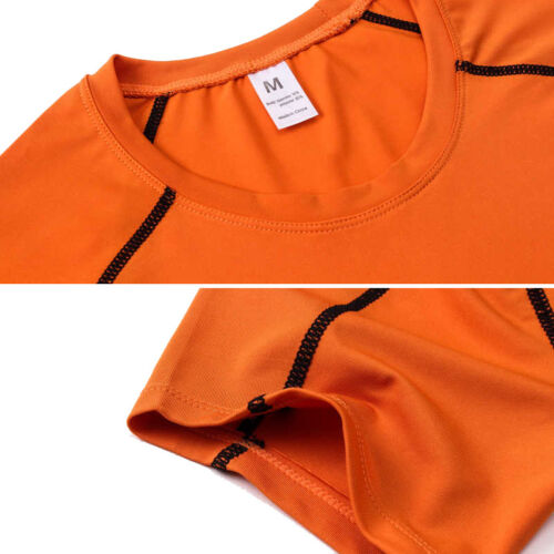 Men/'s Sports Gym Shirts Short Sleeve Fitness Tops Activewear Dri-fit Wicking Tee