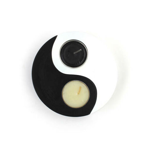 Fairtrade Yin Yang T Tea Light Candle Holder Set /& Candles From Thailand Gift