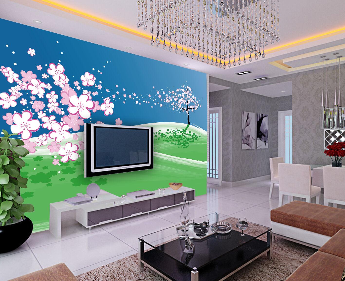 3D Lawn trees 1 WallPaper Murals Wall Print Decal Wall Deco AJ WALLPAPER