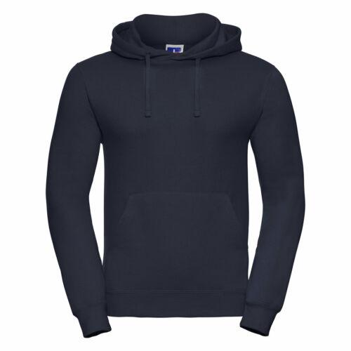 Russell Men Poly//Cotton Hooded Sweatshirt Heavyweight Hoodie Front Pocket Jumper