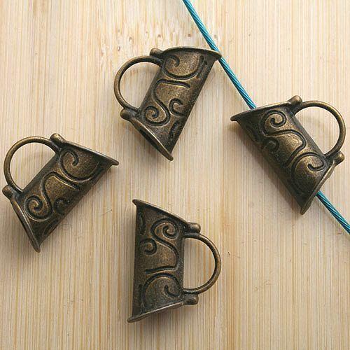 6pcs antiqued bronze handbag design pendant charm G633