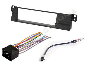 Car Radio Stereo Single Din Dash Kit Wire Harness for 2002-2005 BMW 3 Series