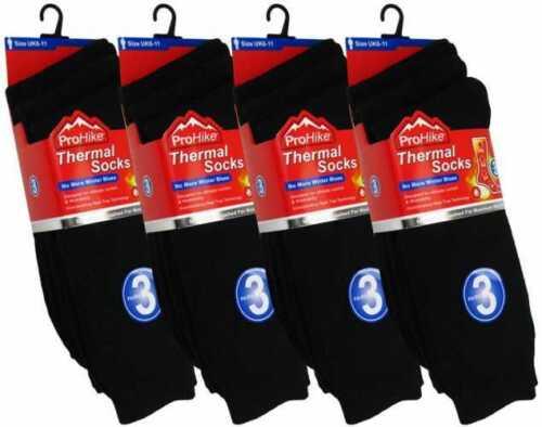 Hommes Qualité Chaud à l/'intérieur brossé Chaussettes Thermiques cadeau de Noël 12 Paire Lot