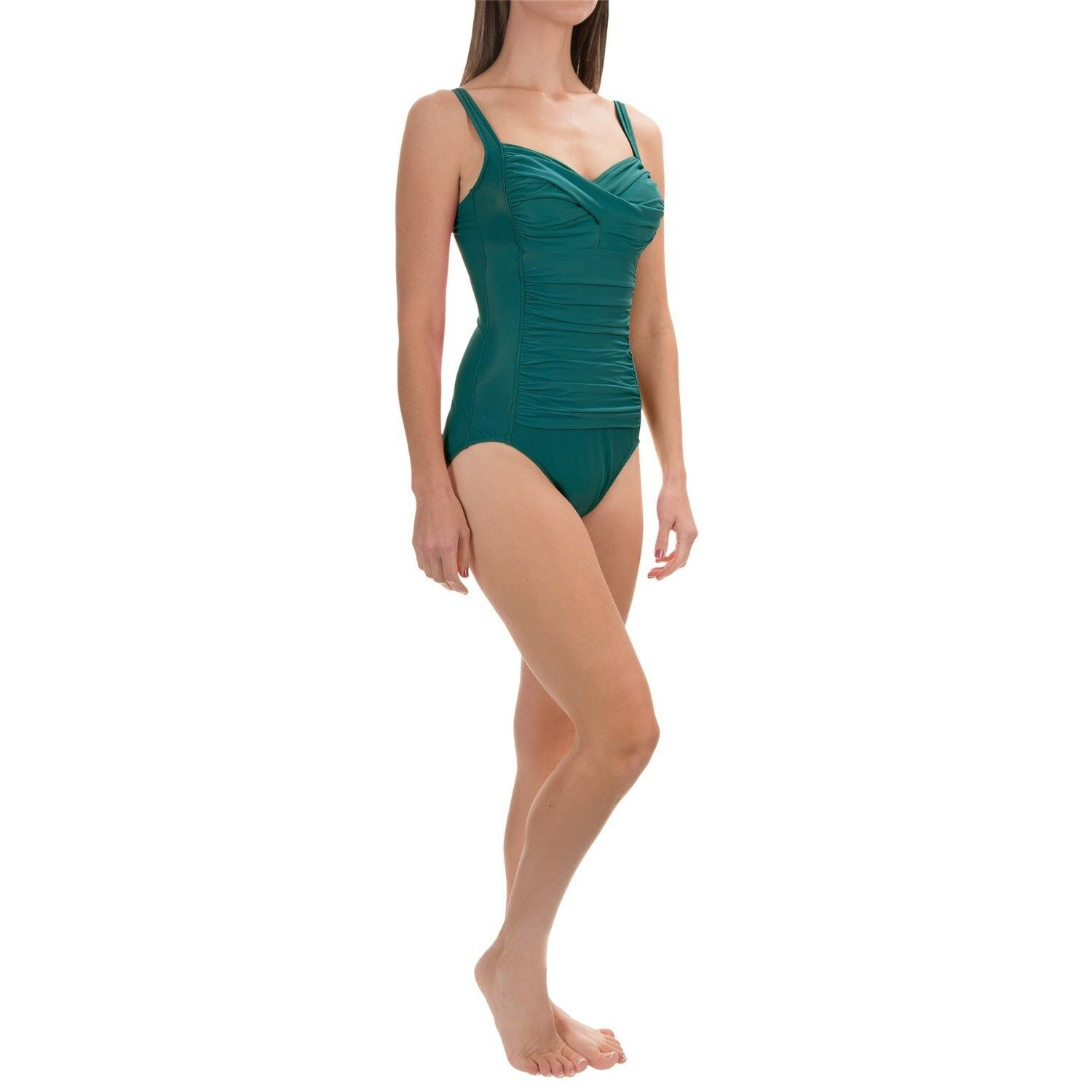 NEW MIRACLESUIT 1 PC SWIMSUIT 16 46 Averi  150 Retail SLIMMING Teal Green