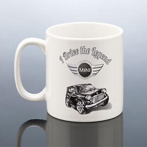 MINI COOPER MUG LEGEND CLASSIC Mini Cup Car Birthday Gift Dad Him ...