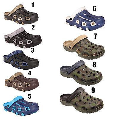 Mens Beach Hospital Garden Kitchen Slip On Work Holiday Clogs Sandals Mules Size Verpackung Der Nominierten Marke