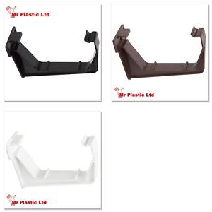 Polypipe 112mm Square Gutter Fascia Bracket In White Brown Or Black Rs209 Ebay