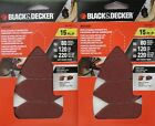 Black & Decker BDAMFT Mouse Fingertip Attachment SandPaper Asst. Grit 15pc 2 Pks