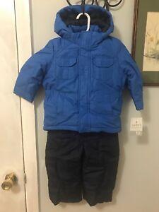315cd135c Boys Carter s Winter Coat And Snow Pants Set Bibs Overalls 18 Months ...