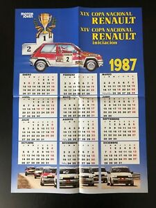 RENAULT-5-GT-TURBO-COPA-CALENDAR-POSTER-SPANISH-MAGAZINE-AFFICHE-M8-3
