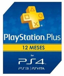 Playstation Plus 365 Días Sony PSN 12 meses 1 Año Suscripción (leer descripción)