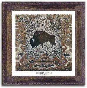 The-Hunt-Art-Print-by-Cecilia-Henle-Bison-Hunt-Buffalo