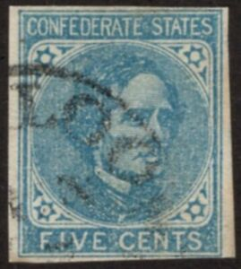 U.S. - Confederate States - 7 - Fine/Very Fine - Used