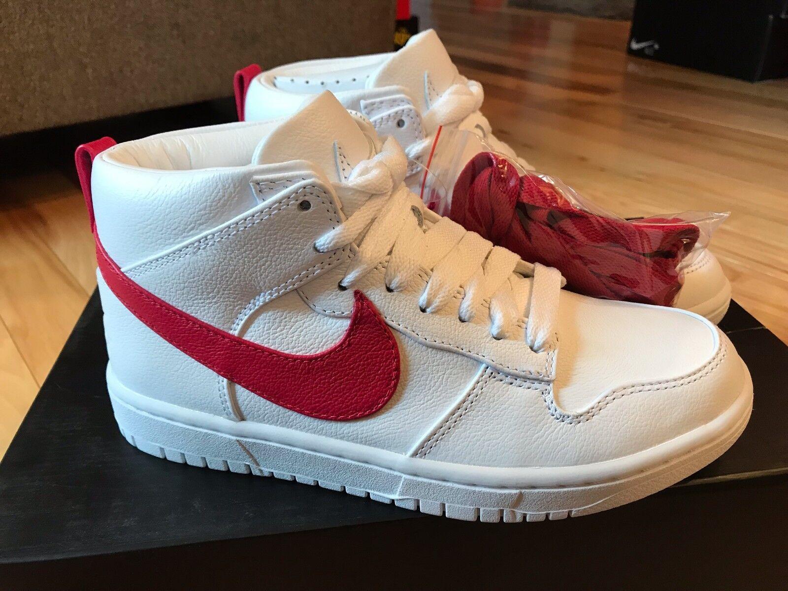Nike nikelab schiacciare lux - chukka rt riccardo tisci bianco - rosso 910088-100 dimensioni 6