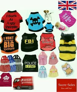 Fancy-T-Shirt-Dogs-Pet-Puppy-Pup-Clothes-Funny-Costume-Vest-Dog-Dress-Seller
