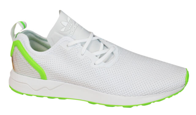 65361f5d52f4 Adidas Originals ZX Flux Adv Asym Mens Trainers Lace Up Shoes White AQ3166  D27