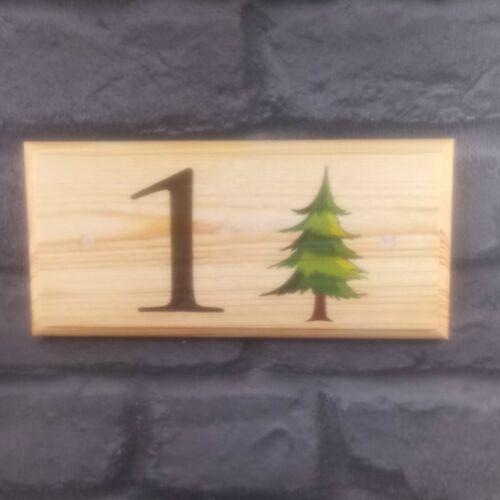 Personnalisé sapin maison nom numéro plaque//signe//cadeau-maison jardin porte