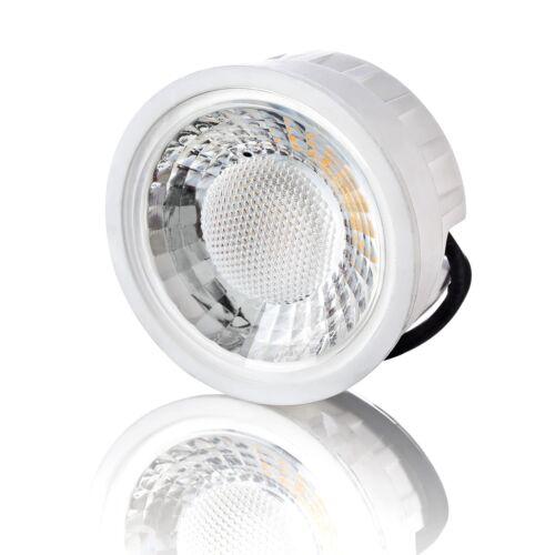 Flacher Decken-Aufbau-Spot Alu weiß eckig LED-Modul 5W 230V Dimmbar lambado®