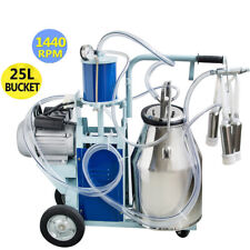 Cow Milker Electric Piston Milking Machine For Cows Farm Bucket 110v