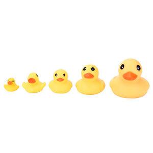 Yellow-Mini-Bathtime-Rubber-Duck-Bath-Squeaky-Water-Play-Fun-Kids-JS