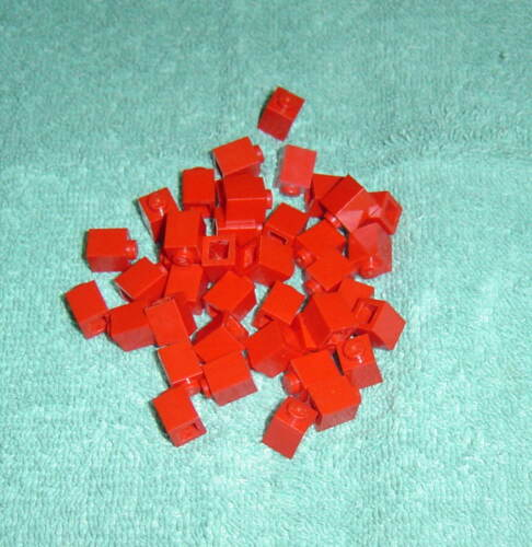 Part #3005 Lot of 40 Red LEGO Basic 1x1 Bricks