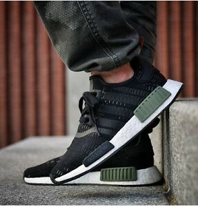 heebyq ADIDAS NMD R1 BASE GREEN CORE WHITE/ BLACK BB1357 ALL SIZES BNIB