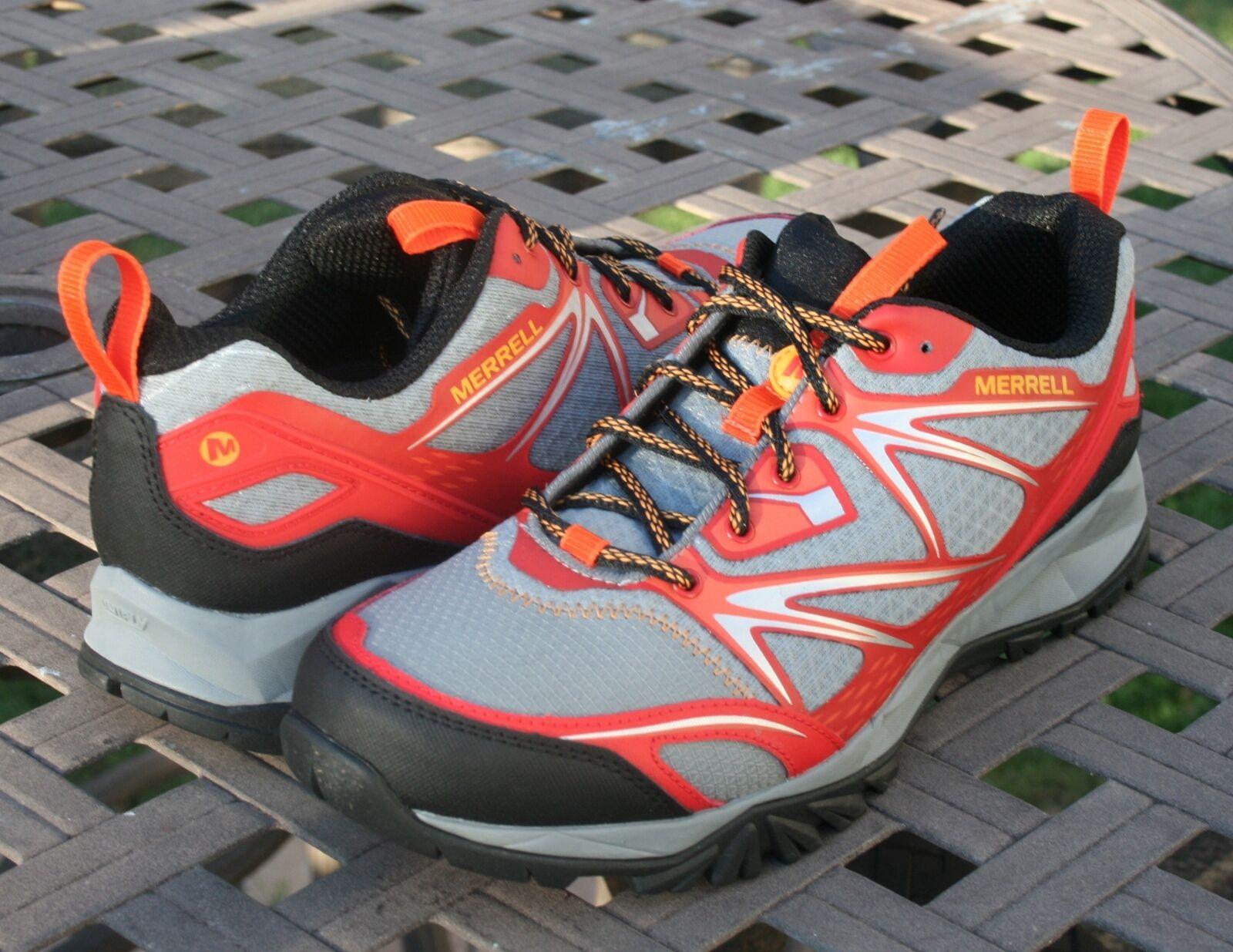 MERRELL CAPRA BOLT US 11.5 Men's Hiking Trail Shoe Bright Red
