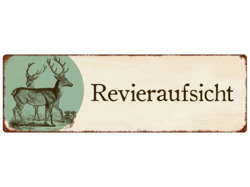 METALLSCHILD Blech REVIERAUFSICHT Jagd Jäger Geschenk Shabby Vintage Geschenk