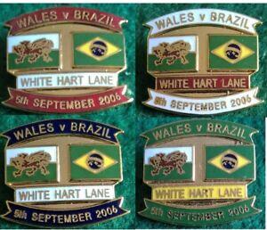 Wales-v-Brazil-Friendly-International-White-Hart-Lane-27-09-2006-Pin-Badge