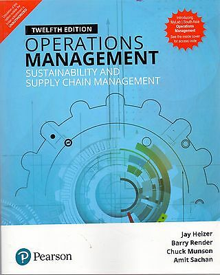 Operations Management 12e By Heizer 9780134130422 EBay