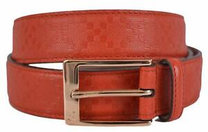 5dffe0328ce New Gucci Men s 345658 Tabasco Red Diamante Leather Belt 46 115
