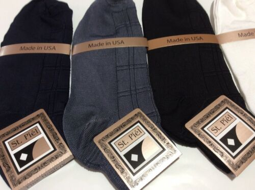 MEN/'S ANKLET ST.PIEL DRESSY CASUAL SOCKS FASHION COLORS  MADE IN USA