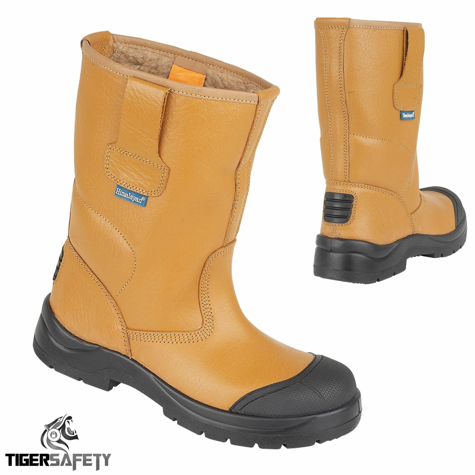 Himalayan 9102 Tan Warm Lined HyGrip Steel Toe Cap Bump Cap Safety Rigger Boots