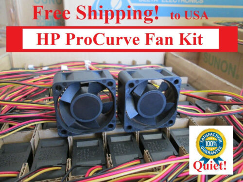 HP ProCurve 2724 Replacement Fan Kit  2x new quiet fans by Sunon P//N J4897A