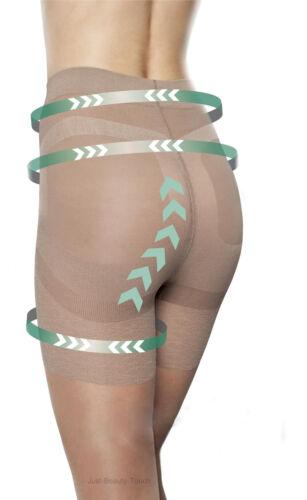 Shape Hips  Small Medium Large Fiore Press-Up Tights 20 Denier-Uplift Bottom
