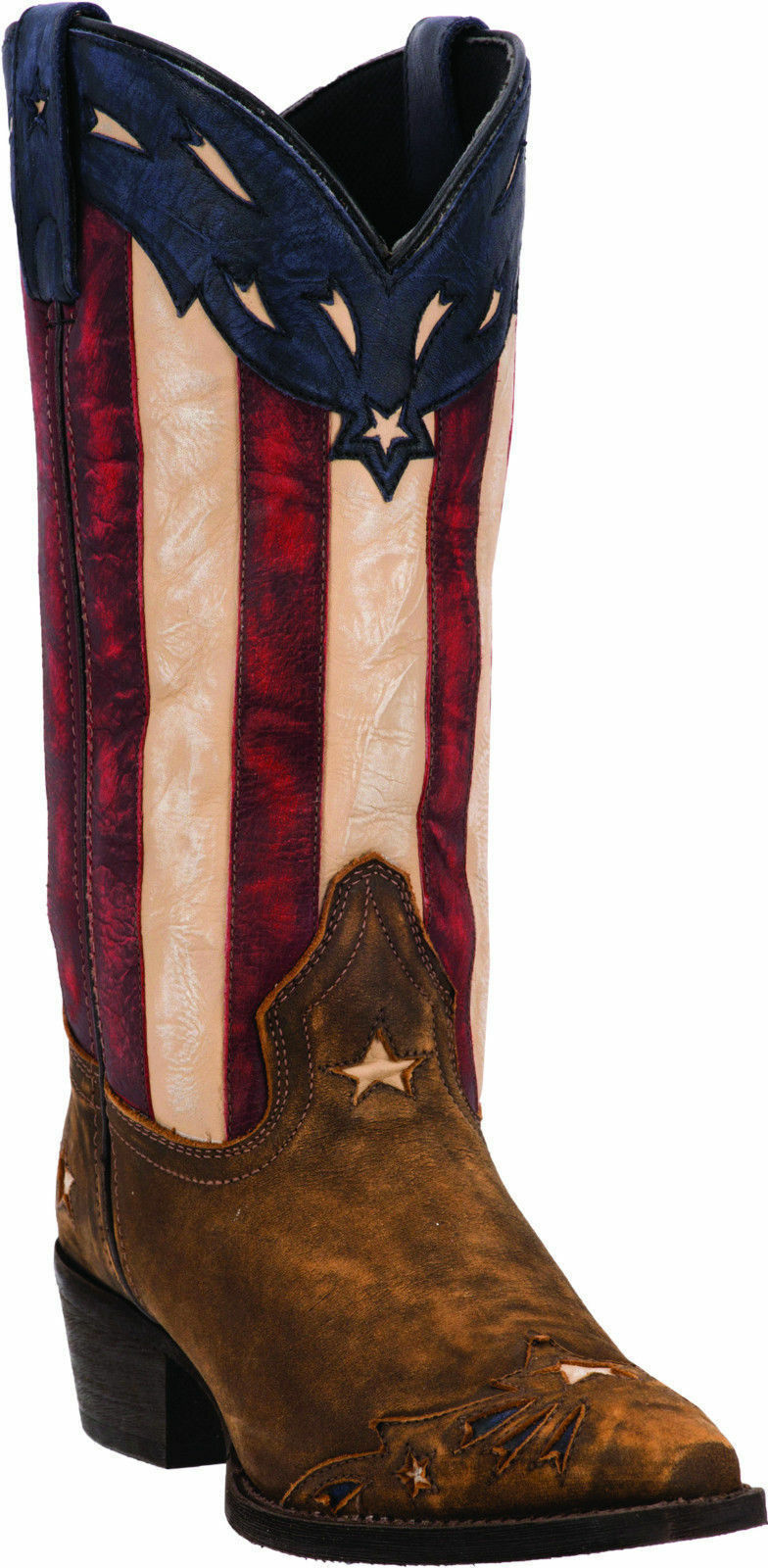LADIES LAREDO STARS AND STRIPES WESTERN BOOTS 52165