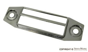 Chrome Porsche 356C//911//912 65-76  NLA.645.009.02 Blaupunkt Radio Face Plate