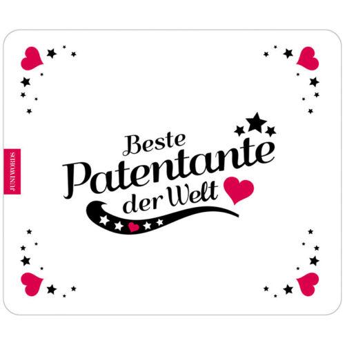 "JUNIWORDS Mauspad Mousepad /""Beste Patentante/"" M-4 Geburtstag Weihnachten"
