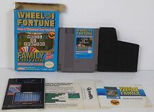 WHEEL OF FORTUNE : FAMILY EDITION (1990) NINTENDO NES w/ BOX **COMPLETE**