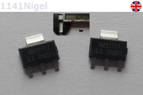 AMS1117-3.3 LM1117 3.3V 1A SMD Voltage Regulator New   .... Pack of 1-5